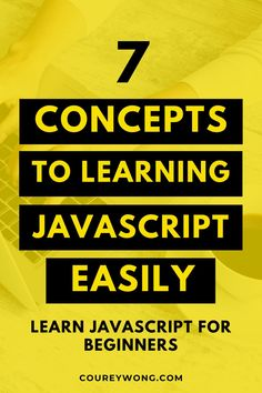 7 Concepts To Learning Javascript Easily | Do you want to learn javascript? Learn how to become a web developer as I break down this coding language. Knowing how to code is easier when you can see the big picture. Learn concepts like javascript functions, data types, & simple javascript programming. This is a great guide for any coding beginner. Now you can become a front end web developer with this simple guide in javascript. #javascript #learnjavascript #javascriptbeginner #learntocode Learn Computer Science, Computer Programming, Do You Know What, Need To Know, Code Project, Coding For Beginners, Amazing Websites, Coding Languages, Learn To Code