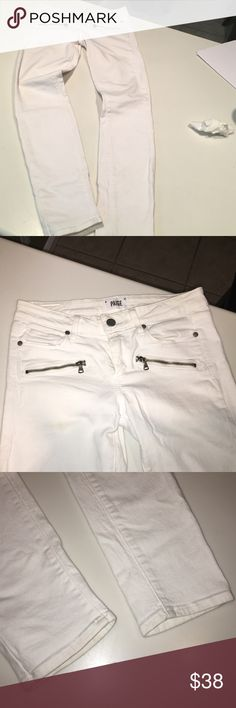 Paige skinny jeans; zipper pockets: sz 27 Inseam 29.5. Good condition. Questions please ask Paige Jeans Jeans Skinny