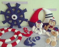 Kit Decoração Urso Marinheiro