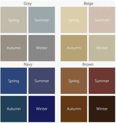 Cool Winter Color Palette, Deep Winter Colors, Spring Color Palette, Spring Colors, Soft Summer, Seasonal Color Analysis, Color Me Beautiful, Soft Autumn, Color Theory
