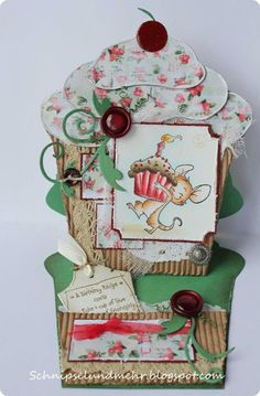 Muffin Easel card plus template