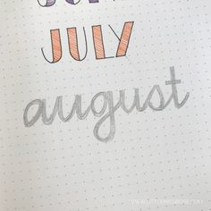 11 Simple Hand-Lettered Fonts For Your Bullet Journal · Little Miss Rose