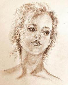 Sketch after Vladimir Volegov painting - charcoal Art Sketches, Charcoal, Painting, Instagram, Painting Art, Paintings, Paint, Draw