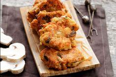 Greek Island Mushroom Patties with Cumin & Greek Cheese Greek Cheese, Greek Dishes, Main Dishes, Greek Cooking, Vegetable Drinks, Vegetable Recipes, Chicken Recipes, Artisan Food, Specialty Foods