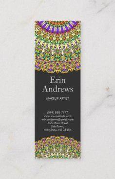 Shop Colorful Life Mandala Business Card created by ZyddArt. Beauty Business Cards, Elegant Business Cards, Business Card Size, Business Card Design, Print Templates, Card Templates, Mandala Design, Graphic Design, Health Yoga