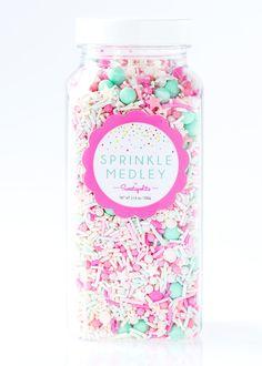 Jersey Shore Sprinkle Medley, Pastel Sprinkles, Star Sprinkles, Pastel Candy, Summer Sprinkles, Bulk Sprinkles -- JUMBO (16 oz)
