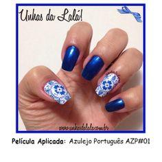 Película Azulejo Português AZP#01 #unhas #unhasdalala #nail #nails #esmalte #amoesmalte #unhasfeitas #lindasunhas #pelicula #nailart #amonailart #artenasunhas #unhasdecoradas #unhasarrumadas #viciadasemesmalte #loucaporesmalte #manicure #lovenails #nailslove #lovenailart #nailpolish #peliculadeunha #peliculaimpressa #azulejoportugues #azulejo #esmalteazul #revlonnailpolish #esmalterevlon #revlon460mysterious #revlonmysterious #bluenailpolish #unhasazuis #bluenails www.unhasdalala.com.br