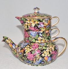 I have a teapot set like this in different pattern my Grandma gave me when I was very young.