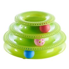Funny Pet Toys Cat Crazy Ball Disk Interactive Amusement Plate Play Disc Trilaminar Turntable Cat Toy 3/4 Layers Scratcher Cats