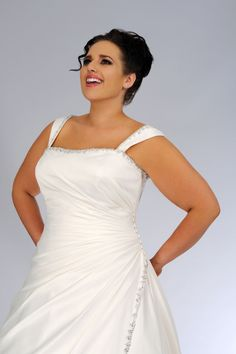 #sv1618 Plus Size Bridal Dress with Shoulder Staps