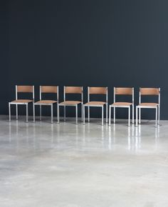 6 chrome dinning chairs Cidue Italy | http://www.furniture-love.com/browse.php | From selection of important 20th century modern furniture.