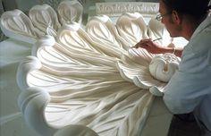 Stevensons craftsman at work on large rosette