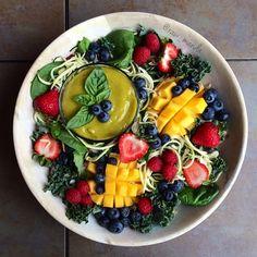 Fruit Salad + Mango Basil Dressing