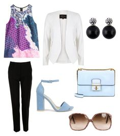 Untitled #24 by amra-fd on Polyvore featuring polyvore fashion style Peter Pilotto River Island Dolce&Gabbana Nly Shoes clothing