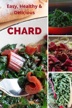 This method of cooking any type of chard gives you a healthy & delicious side dish or main course in just minutes. A few spices & clean chard are all you need. Spinach Stuffed Mushrooms, Stuffed Peppers, Healthy Crab Cakes, Vegan Sloppy Joes, Progressive Dinner, Rainbow Chard, Sweet Potato Chili, Simply Recipes, Plant Based Recipes
