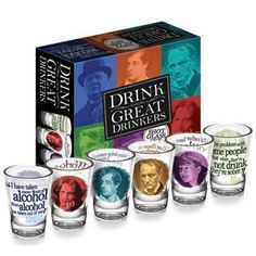 Great Drinkers Shot Glasses :: Home & Office :: the mental_floss store