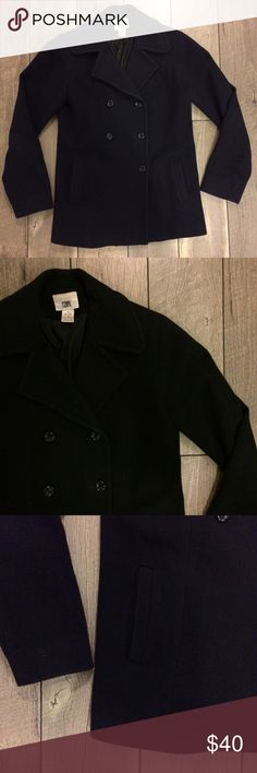 BP Nordstrom Navy Pea Coat So cute and perfect for this season! The navy color will go with everything, just enough weight to keep you warm without bulking you up! Has pockets! Jacket is in great used condition. No tips, snags, etc. Buttons have a little give but are sturdy. bp Jackets & Coats Pea Coats