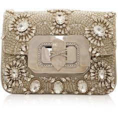 MARCHESA Crystal Box Clutch ❤ liked on Polyvore