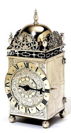 Lantern clock of silver, David Bouquet, 1650, The Victoria & Albert Museum