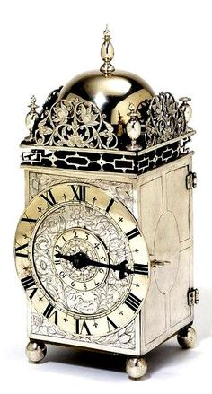 Lantern clock of silver, David Bouquet, 1650, The Victoria & Albert Museum