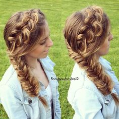 DIY Bohostyle Dutchbraid into fishtail by Braidsandstyles12