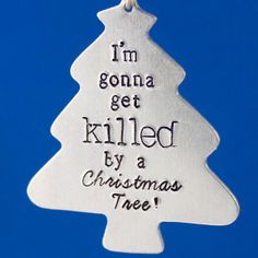Doctor Who Ornament 'I'm Gonna Get Killed By a Christmas Tree!' by SpiffingJewelry, $18.00