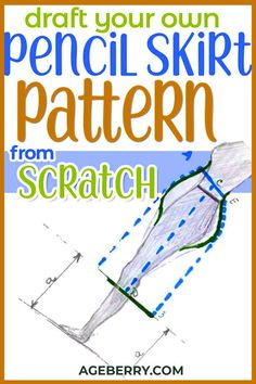 Looking for DIY pencil skirt pattern tutorials? If you want to learn how to sew a pencil skirt with a zipper start with basic skirt pattern drafting. In this skirt cutting tutorial, I will show you the draping method of pattern making. Learn how to cut and sew a skirt and check out my video on how to sew a pencil skirt YouTube. DIY pencil skirts are beginner sewing projects. Sewing For Beginners Diy, Sewing For Dummies, Sewing Basics, Easy Sewing Patterns, Sewing Tutorials, Sewing Diy, Pattern Drafting, Learn To Sew, Sewing Clothes