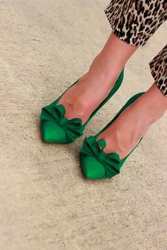 Emerald green and leopard print