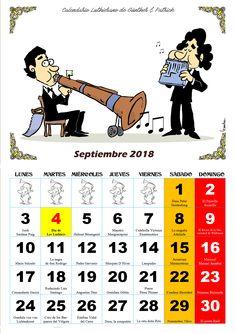 Septiembre - Calendario Les Luthiers 2018