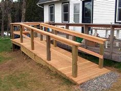 New handicap ramp gives easy access to the house