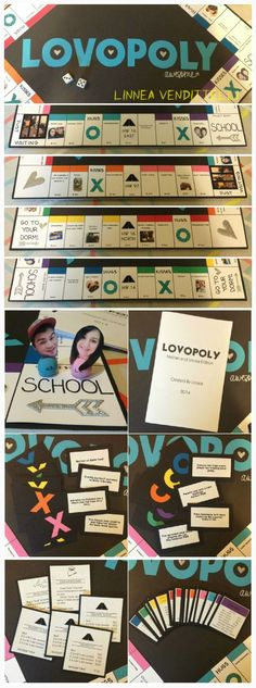 Lovopoly! My spin off of monopoly I made for my boyfriend for our one year! A lot more work then I thought it would be, but so much fun!:
