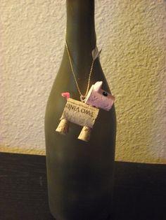 wine cork pig/ bottle decoration by AvilaRoseGarden on Etsy