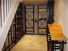 Custom Home Wine Cellars and Wine Racks - A perfect solution for under the stairs wine storage #Winestorage #winecellars #architecture