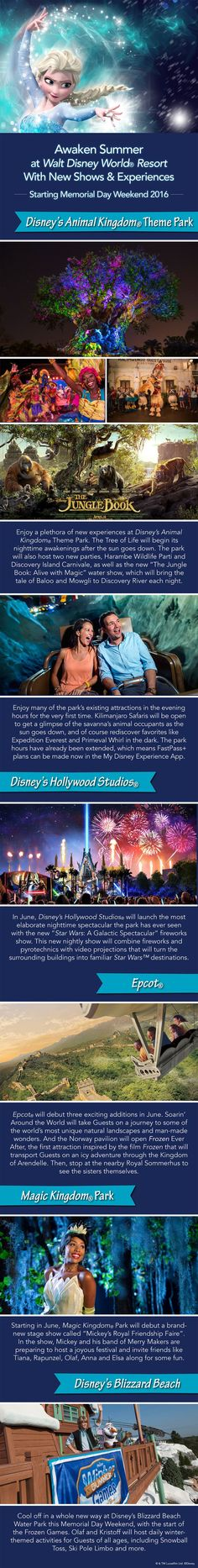 Are you ready for new Disney shows, fireworks and attractions? This summer will bring a whole lot more fun to all four parks at Walt Disney World Resort. A series of openings will being Memorial Day Weekend – and here's what's on tap for each location.