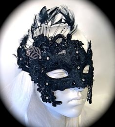 Hey, I found this really awesome Etsy listing at https://www.etsy.com/listing/108563673/black-raven-mask-masquerade-ball-masks