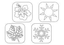 Ausmalbilder Jahreszeiten Die Vier Jahreszeiten Fruhling Sommer Herbst Winter Jahreszeiten Malvorlagen Vorlagen