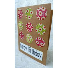 Check out this item in my Etsy shop https://www.etsy.com/listing/452153168/handmade-birthday-card-flower-polka-dot
