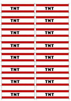 Minecraft TNT label printables