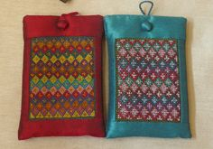 Our hand embroidered mobile cases