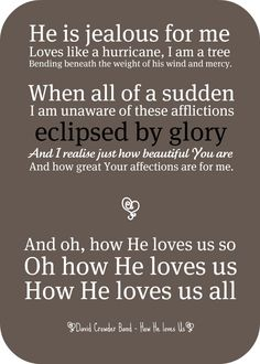 Love like a hurricane david crowder