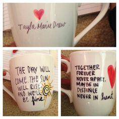 Personalized DIY mugs for my besties!