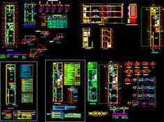 Plano completo de una vivienda en DIBUJO DE AUTOCAD | BiblioCAD