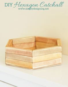 DIY Hexagon Catchall | click the photo to see how to create this really cool layered hexagon catchall by Simply Designing