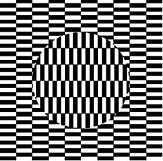 Fun op art Idea: color two & cut shape out of second, glue to first