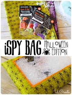 Halloween I Spy Bag Tutorial