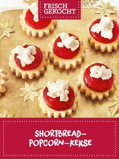 Shortbread-Popcorn-Kekse Shortbread, Popcorn, Muffin, Breakfast, Desserts, Food, Ginger Beard, Chocolate Candies, Treats