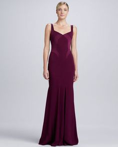 Sweetheart+Satin-Panel+Gown++by+David+Meister+at+Neiman+Marcus.