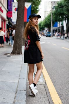 HAT | DOPE TOP | MAREMOTO SHOES | NIKE Street Style Jung Hyesoo, Seoul