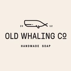 Old Whaling Company - Handmade Soap - Typographic Logo Design. - August 08 2019 at Design Logo Inspiration, Great Logo Design, Great Logos, Logo Type Design, Design Design, Logo Branding, Typo Logo, Typographic Logo, Corporate Branding