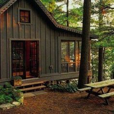 Likes, 28 Comments - The A. Mercantile+Outfitters (American Hatfield) on. Likes, 28 Tiny House Cabin, Cabin Homes, Small Log Cabin, Small Cabins, Cozy Cabin, Building A Shed, Building Plans, Building Design, Little Cabin